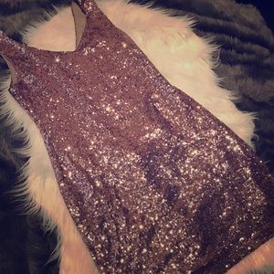 Beautiful sequined blush bodycon dress